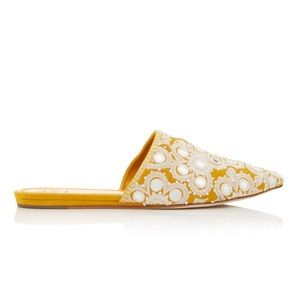 Tory Burch Shoes Elora Slide India Gold Mirrored